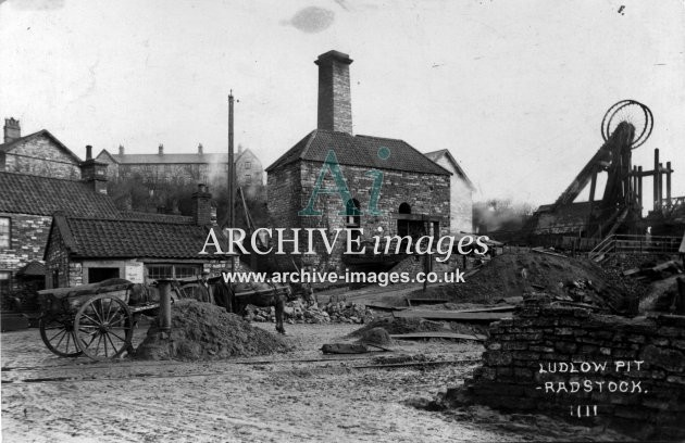 Somerset Mining Radstock Ludlow pit colliery c1908 CMc
