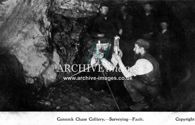 Staffordshire Mining Cannock Chase colliery surveying fault c1905 CMc
