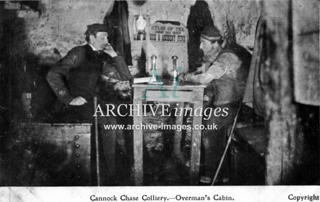 Staffordshire Mining Cannock Chase colliery overmans cabin c1905 CMc