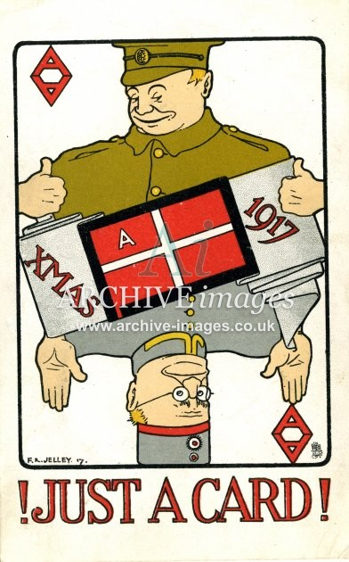 World War One Just a Card playing card greetings postcard CMc