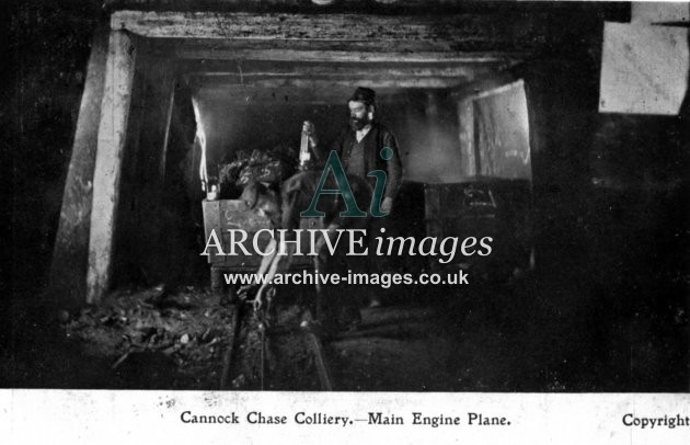 Staffordshire Mining Cannock Chase colliery main engine plane c1905 CMc