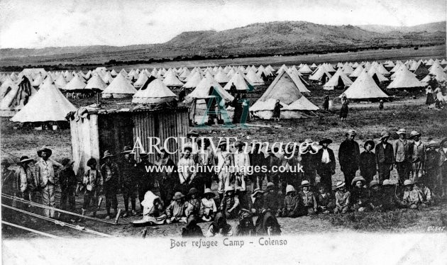Military South Africa Boer War concentration camp Colenso c1900 CMc