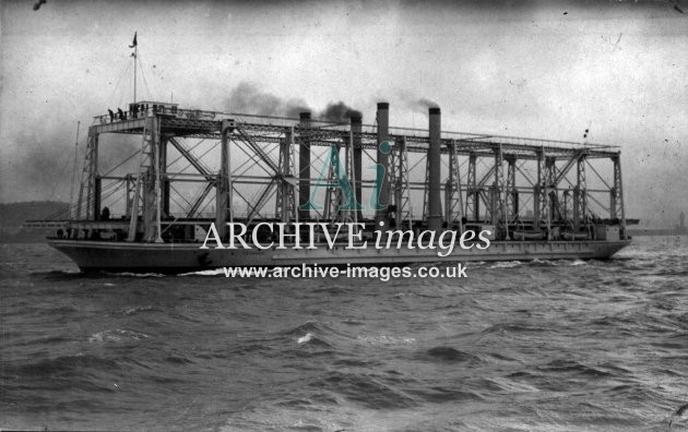 Shipping Canada Cheshire Train Ferry Leonard in mersey Cammell Laird 1914 CMc