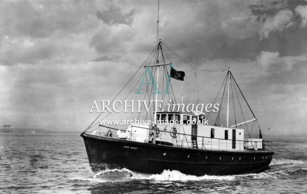 Kent Shipping  Thames MV John Ashley Mission to seafarers church c1950 CMc