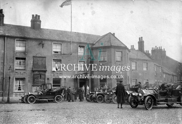 Yorkshire Selby Londesborough Arms Military HQ General Staff c1915 CMc