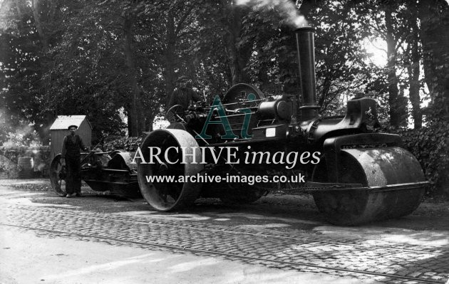 Aberdeenshire Echt  Aberdeen Council steam road roller 1925 Cmc