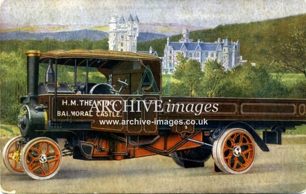 Aberdeenshire Braemar Royalty The Kings Foden Steam Lorry Balmoral Castle c1920 CMc