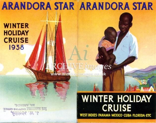 Blue Star Line SS Arandora Star 1938 poster CMc