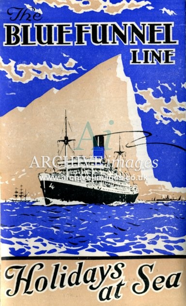 Blue Funnel Line Holidays at Sea poster 1931 CMc