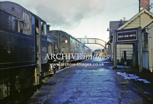 Hay on Wye Railway Station & No 46511 1961