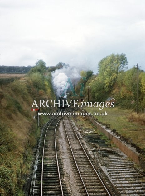 Fawley Tunnel & Station, No 7318 from Hereford 10.64 A