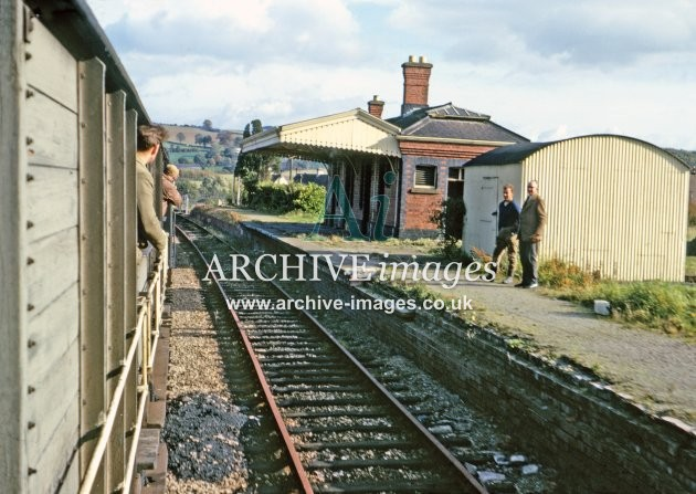 Mitcheldean Road station from last Lydbrook goods 11.65