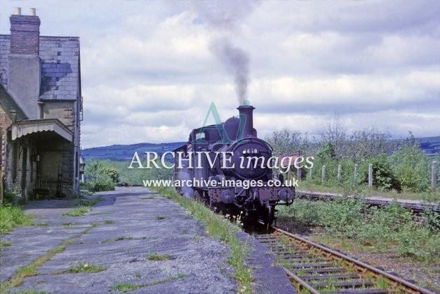 Titely Junction Station & No 1458 1964