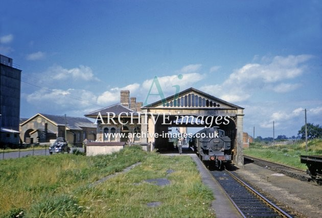 Chard Central Railway Station 1962 Archive Images