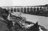 Calstock viaduct nearly complete in late 1907, viewed from the ECMR incline.