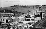The dockside and cable operated incline railway at Portreath c1906
