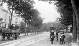 Cheltenham High St, Tram & Coal Cart c1906