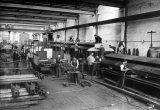 Gloucester Railway Carriage & Wagon Co Ltd, 1924. Carriage Shop. Metropolitan Railway 'G' Stock carriages being built.