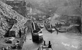 A busy scene at Froghall Wharf, the terminus of the Caldon Canal, circa 1908