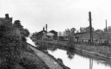 Weedon LNWR goods yard alongside the Grand Union Canal circa 1910. This was a railway/canal transhipment point.