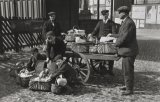 Edwardian Egg Sellers Handcart Near Midland Railway Station MD
