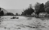 c.1910 view of children playing in the river at Llanrwst