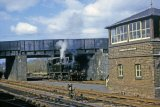 No. 1420 shunting at Leominster in April 1964, with South End signal box in the foreground