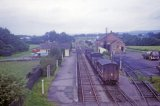 Shunting at Eardisley station in July 1963. By this date, this was the terminus of the erstwhile line to Hay and Brecon, and was in use for goods only.