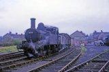 No. 1458 shunts the yard at Kington on 25th April 1964.