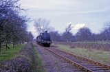 No. 1420 with a short freight train on the Kington Branch in May 1964
