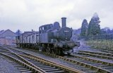 No. 1458 shunts the yard at Kington on 25th April 1964.
