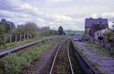 Titley Junction station looking west in May 1964. Passenger services had been withdrawn on 7th February 1955