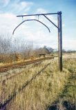 The loading gauge at Titley Junction on 20th November 1964, after final closure of the branch