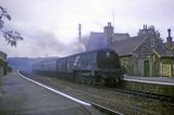 West Country Class 4-6-2 No. 34020 Seaton coasts through Umberleigh with an Ilfracombe train circa 1962