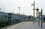 No. 34079 141 Squadron at Wadebridge, and apparently about to work tender first to Padstow. This photo is believed to have been taken in August 1963