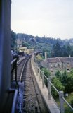 The approach to Midford station over the viaduct, as seen from the 4.15pm Templecombe-Bath GP train on 13th July 1962