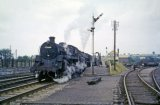 No's 75009 and 44944 double head a northbound train away from Midsomer Norton on 13th July 1962