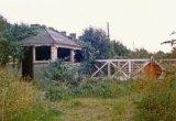 The derelict level crossing at Braunton c1978
