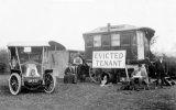 Edwardian Evicted Tenant in Caravan