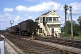 No 73051 passing Templecombe Junction Signal Box on 17.8.1962