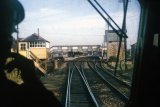 From the cab of a DMU approaching the station in december 1965