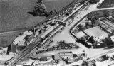 Moreton-in-Marsh Railway Station aerial view