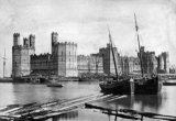 Caernarvon Harbour & Castle c1860
