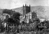 Malvern Church from Priory Gardens c1860