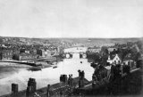 Whitby Harbour & Town Bridge c1865