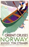 Norway  Orient Cruises Poster Advert 1930s