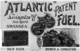 Livingston & Co. Swansea, Atlantic Patent fuel advert