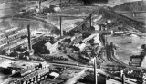 Glasshoughton Colliery, Pontefract, aerial vw