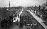 Formby Railway Station & electric train