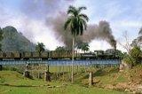 Cuba Railways, No 1552 & train on bridge 4.1991